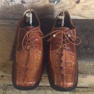 Men's Hand Made Ramano Exotic Shoes Size 10